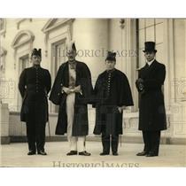1923 Press Photo Dr JB Hubrecht Sec of Legation of Netherlands & Amb de Graeff