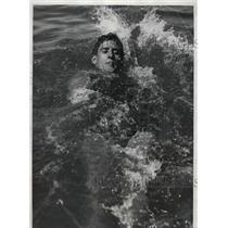 1934 Press Photo Albert Vandeweghe at National AAU 100 backstroke in Chicago