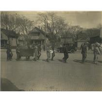 1920 Press Photo Kansas State Normal pupils in parade in Euporia, KS