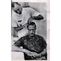 1962 Press Photo Brain wave examination of Scott Carpenter at Cape Canaveral