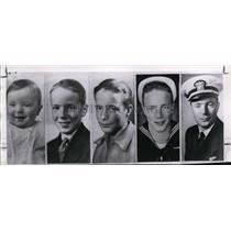 1962 Press Photo Astronaut Scott Carpenter's photos from baby to Navy lieutenant