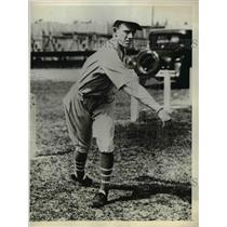 1931 Press Photo Lewis Krause Utility Outfielder Philadelphia A's - ors01108
