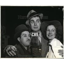 1937 Press Photo Tony Labriola Oswald Ken Murray and Shirley Ross - orx02717
