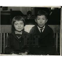 1924 Press Photo Dancer Anna Kalmanowitz and Artist Philip Benowitz