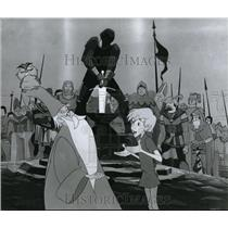 1964 Press Photo King Arthur and Merlin Wizard in the Sword and the Stone