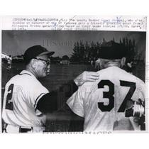 1959 Press Photo Casey Stengel Yankees manager & Braves manager Fred Haney
