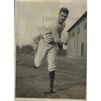 1930 Press Photo William Barry Wood Jr at Harvard University baseball