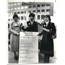 1981 Press Photo Carol Kurtz, Joyce Sanders, and Andrea Gundersen - cva80900