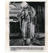1961 Wire Photo Navy Cmdr. Alan B. Shepard Jr., chosen for America's first man-