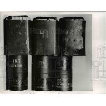 1952 Press Photo TNT Grenades Included In The Arms Cache Captured By The FBI