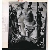 1960 Wire Photo The Agena satellite launched in Project Midas at Cape Canaveral