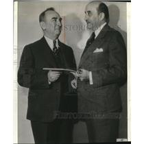 1936 Wire Photo S.W.King of Hawaii Congressional delegate and Secretary McGrady