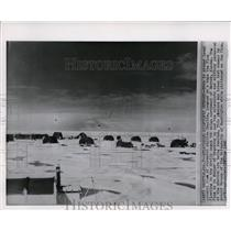1960 Wire Photo Research station Charlie in Arctic ocean northwest of Barrow