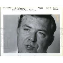 1990 Press Photo Tom Metzger, leader White Aryan Resistance - ora60989