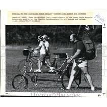 1993 Press Photo Participants in the Great Ohio Bicycle Adventure in Oberlin HQ
