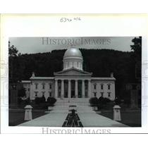 1991 Press Photo General view of Vermont's Capitol in Montpelier - orb62289