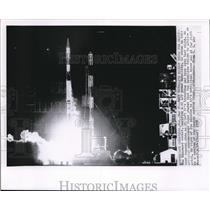 1958 Wire Photo The Vanguard rocket, carrying a 21 1/2 pound Satellite is shown