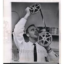 1951 Wire Photo Alan Shepard examines motion picture film - cvw06911