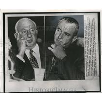 1971 Wire Photo The top ranking gambling figures, Morris Kleinman & Rotxoff
