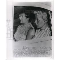 Wire Photo Barbara Sears Rockefeller Sits in Car after Divorcing Winthop R.