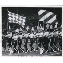 1970 Press Photo Band marches during Browns vs Jets game - cva95768