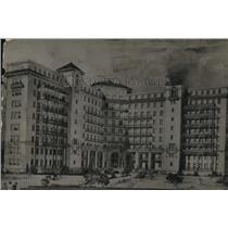 1921 Press Photo Architect drawing of the City Hospital - cva95842