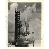 1984 Press Photo The early Atlas Centaur launch - cva78377