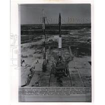 1958 Wire Photo The Vanguard Rocket that Boosted a Small Earth Satellite