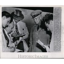 1947 Wire Photo Gen.D.D. Eisenhower Waiting for the Next Questions  - cvw13971