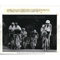 1990 Press Photo Participants in the 1990 Great Ohio Bicycle Adventure