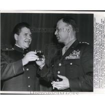 1946 Wire Photo Major General Sarayev, Military Attache of Soviet Embassy