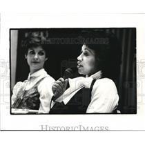 1983 Press Photo Margot Copeland (foreground) Karyn Kahn, background.