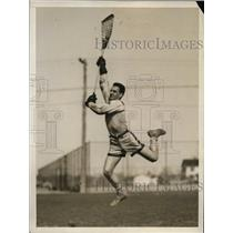 1929 Press Photo Malcolm B MacIntyre captain of lacrosse at Yale University