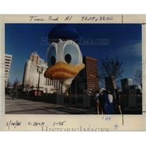 1988 Press Photo Zip A Dee Doo Duck finally gets off the ground in Portland.