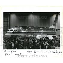 1988 Press Photo 737-400 roll out at Renton WA - orb14334