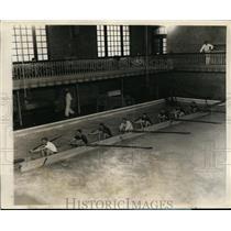 1927 Press Photo Annapolis Maryland Navy Academy crew at practice - nes41236