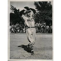 1941 Press Photo John Pintar rookie pitcher for Cardinals at spring training