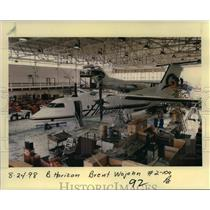 1998 Press Photo Horizon Airlines Jet In Hangar - ora99096