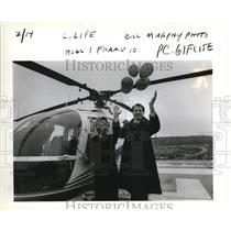 1986 Press Photo Janet Larson and Rep Ron Wyden inaugurate Life Flight