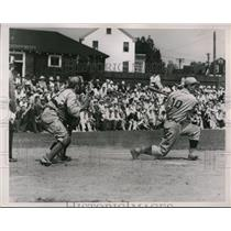 1938 Press Photo Tom Healey of Harvard strikes out in 2nd inning - nes41394