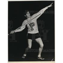 1932 Press Photo Gertrude Stelling Puyalluo WA high school javelin throw