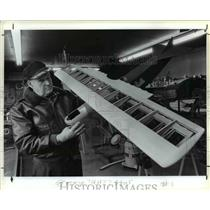 1984 Press Photo Model version of vintage aircraft, displays in local restaurant