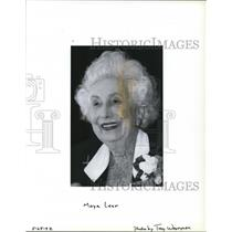 1992 Press Photo Moya Olsen Lear - ora58223