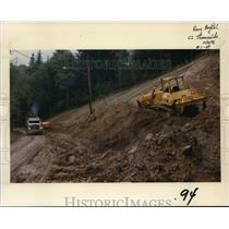 1996 Press Photo Landslide caused by heavy rains in Portland - orb61013