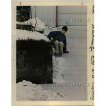 1996 Press Photo Ice weather in Portland - orb58584