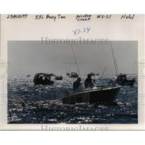 1999 Press Photo Fishing Boats Out on water - orb15603