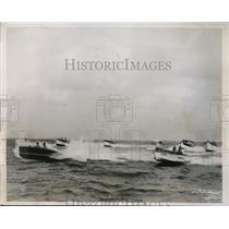 1937 Press Photo Biscayn Bay Florida 24th Annual Powerboat Regatta - nes42760