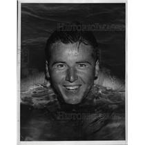 1935 Press Photo Sam M Parks Jr National Open golf champ swims at Miami