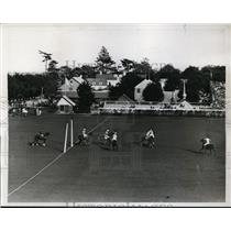 1934 Press Photo Michael Phipps of East vs West at polo at Meadowbrook NY