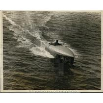 1928 Press Photo Bob Titman drives Spencer Special on Boston Bay in boat race